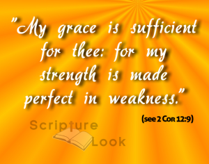 My grace is suffient for thee: for my strength is made perfect in weakness.