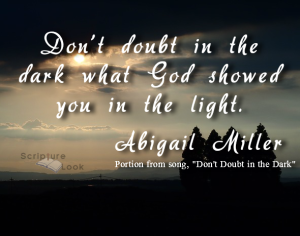 Don't Doubt in the Dark