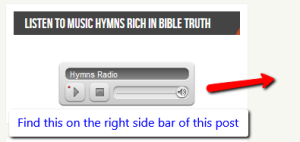 Sample pic of radio on side bar
