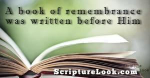 Book of Remembrance scripturelook.com