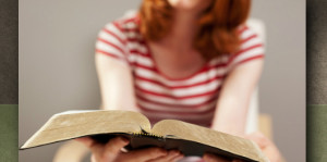 Gospel shared by woman with Bible